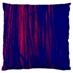 Abstract Color Red Blue Large Flano Cushion Case (One Side)