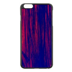 Abstract Color Red Blue Apple Iphone 6 Plus/6s Plus Black Enamel Case