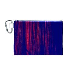 Abstract Color Red Blue Canvas Cosmetic Bag (m)