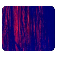 Abstract Color Red Blue Double Sided Flano Blanket (small)