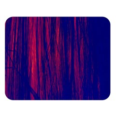 Abstract Color Red Blue Double Sided Flano Blanket (large)
