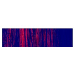 Abstract Color Red Blue Satin Scarf (oblong)
