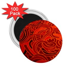 Orange Abstract Background 2.25  Magnets (100 pack)