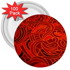 Orange Abstract Background 3  Buttons (100 Pack)