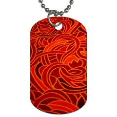 Orange Abstract Background Dog Tag (One Side)