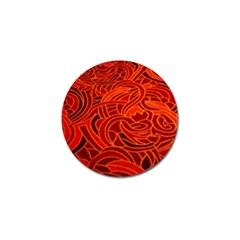Orange Abstract Background Golf Ball Marker
