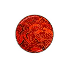 Orange Abstract Background Hat Clip Ball Marker (4 pack)