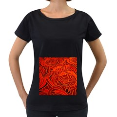 Orange Abstract Background Women s Loose Fit T Shirt (black)