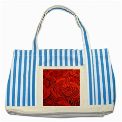 Orange Abstract Background Striped Blue Tote Bag