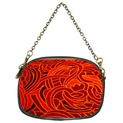 Orange Abstract Background Chain Purses (one Side)