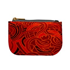 Orange Abstract Background Mini Coin Purses