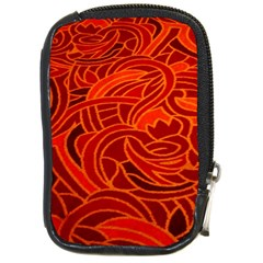 Orange Abstract Background Compact Camera Cases