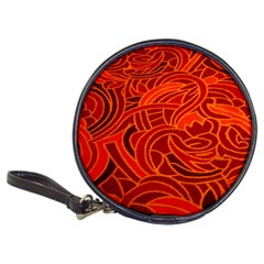 Orange Abstract Background Classic 20 Cd Wallets