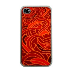 Orange Abstract Background Apple Iphone 4 Case (clear)