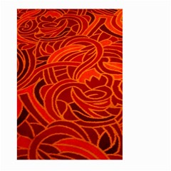 Orange Abstract Background Large Garden Flag (Two Sides)