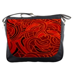 Orange Abstract Background Messenger Bags