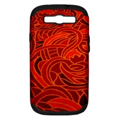 Orange Abstract Background Samsung Galaxy S Iii Hardshell Case (pc+silicone)