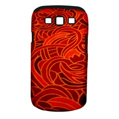 Orange Abstract Background Samsung Galaxy S III Classic Hardshell Case (PC+Silicone)