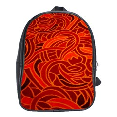 Orange Abstract Background School Bags (XL)