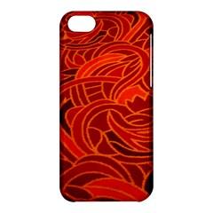 Orange Abstract Background Apple iPhone 5C Hardshell Case