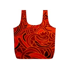 Orange Abstract Background Full Print Recycle Bags (S)