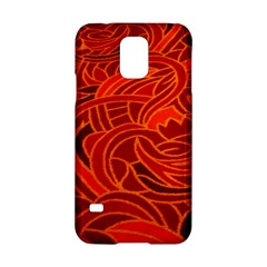 Orange Abstract Background Samsung Galaxy S5 Hardshell Case