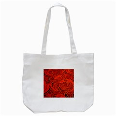 Orange Abstract Background Tote Bag (White)