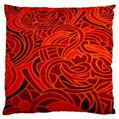 Orange Abstract Background Large Flano Cushion Case (two Sides)