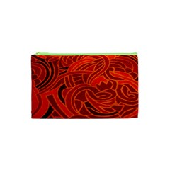 Orange Abstract Background Cosmetic Bag (xs)