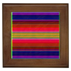 Fiesta Stripe Bright Colorful Neon Stripes Cinco De Mayo Background Framed Tiles