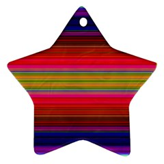 Fiesta Stripe Bright Colorful Neon Stripes Cinco De Mayo Background Ornament (star)