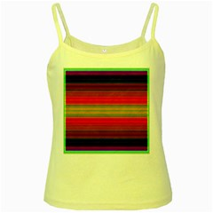 Fiesta Stripe Bright Colorful Neon Stripes Cinco De Mayo Background Yellow Spaghetti Tank