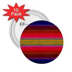 Fiesta Stripe Bright Colorful Neon Stripes Cinco De Mayo Background 2 25  Buttons (10 Pack)