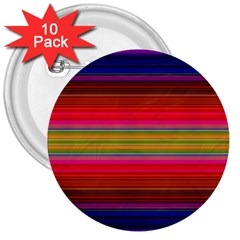 Fiesta Stripe Bright Colorful Neon Stripes Cinco De Mayo Background 3  Buttons (10 Pack)