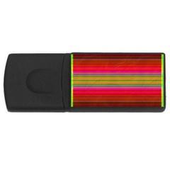 Fiesta Stripe Bright Colorful Neon Stripes Cinco De Mayo Background USB Flash Drive Rectangular (2 GB)