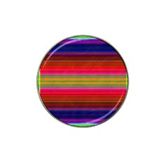 Fiesta Stripe Bright Colorful Neon Stripes Cinco De Mayo Background Hat Clip Ball Marker (4 pack)