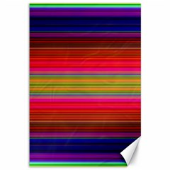 Fiesta Stripe Bright Colorful Neon Stripes Cinco De Mayo Background Canvas 12  X 18