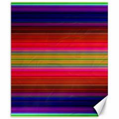 Fiesta Stripe Bright Colorful Neon Stripes Cinco De Mayo Background Canvas 20  x 24
