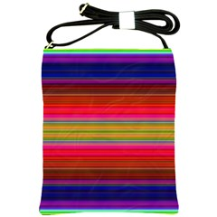 Fiesta Stripe Bright Colorful Neon Stripes Cinco De Mayo Background Shoulder Sling Bags