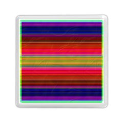 Fiesta Stripe Bright Colorful Neon Stripes Cinco De Mayo Background Memory Card Reader (square)