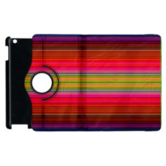 Fiesta Stripe Bright Colorful Neon Stripes Cinco De Mayo Background Apple iPad 2 Flip 360 Case