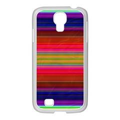 Fiesta Stripe Bright Colorful Neon Stripes Cinco De Mayo Background Samsung Galaxy S4 I9500/ I9505 Case (white)