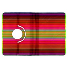 Fiesta Stripe Bright Colorful Neon Stripes Cinco De Mayo Background Kindle Fire Hdx Flip 360 Case