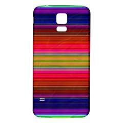 Fiesta Stripe Bright Colorful Neon Stripes Cinco De Mayo Background Samsung Galaxy S5 Back Case (White)