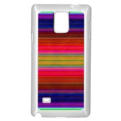 Fiesta Stripe Bright Colorful Neon Stripes Cinco De Mayo Background Samsung Galaxy Note 4 Case (White)