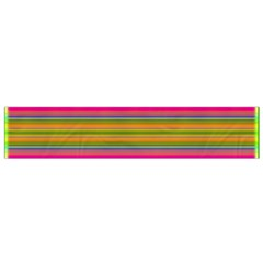 Fiesta Stripe Bright Colorful Neon Stripes Cinco De Mayo Background Flano Scarf (Small)