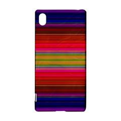 Fiesta Stripe Bright Colorful Neon Stripes Cinco De Mayo Background Sony Xperia Z3+