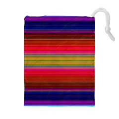 Fiesta Stripe Bright Colorful Neon Stripes Cinco De Mayo Background Drawstring Pouches (extra Large)