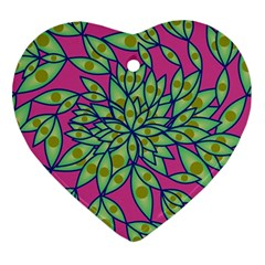 Big Growth Abstract Floral Texture Ornament (heart)