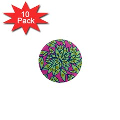 Big Growth Abstract Floral Texture 1  Mini Magnet (10 pack)